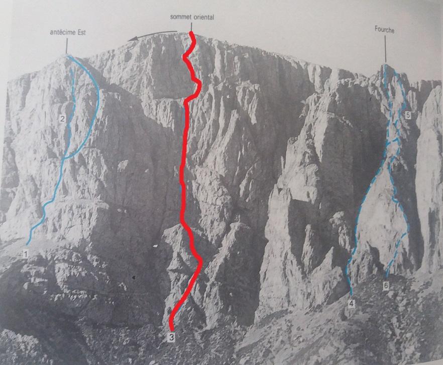 Aroudne ommet oriental face nord voie centrale