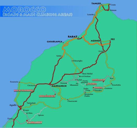 mapa marruecos ingles
