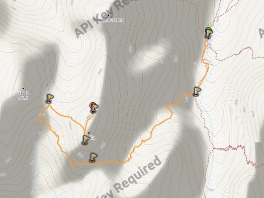 Afella collados 1 mapa