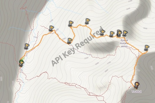 Mapa cresta Tibheirine