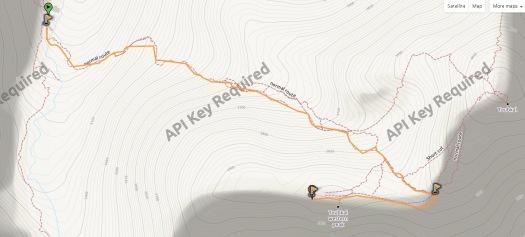 Mapa Toubkal oeste trcak VN