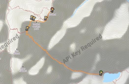 Toubkal lago ifni mapa