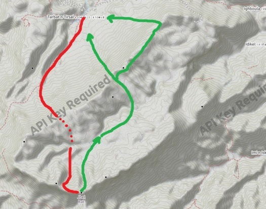 Jebel Rhat mapa 2