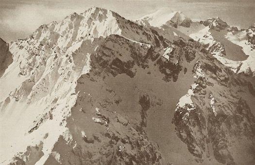 Walter Mittelholzer (1894-1937)-Djebel toubka- Aerial view 1932