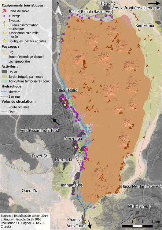 Erg Chebbi map